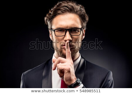 Gesture of silence Stock photo © photography33