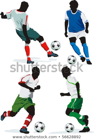 Stock photo: Soccer football player. Colored Vector illustration for designer
