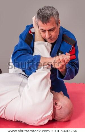 Judo brazo bloqueo hombre equipo retrato Foto stock © photography33