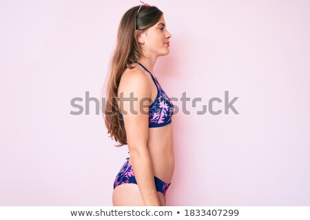 Silhouette of female body with bikini and sunglasses Stock photo © CandyboxPhoto