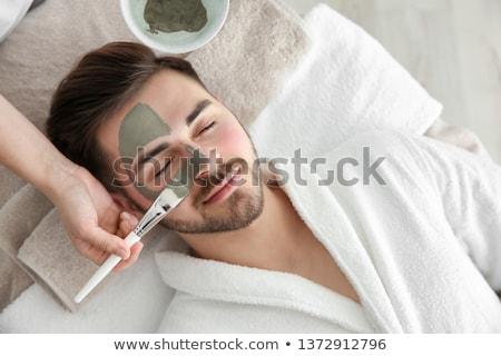 férfi · fürdő · fektet · asztal · meztelen · törzs - stock fotó © curaphotography