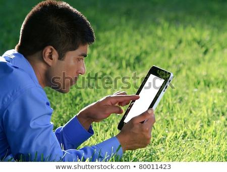 biznesmen · pda · na · zewnątrz · człowiek · technologii · osoby - zdjęcia stock © adamr