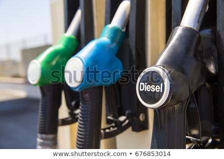 retro · piros · benzinpumpa · izolált · fehér · üzlet - stock fotó © trgowanlock