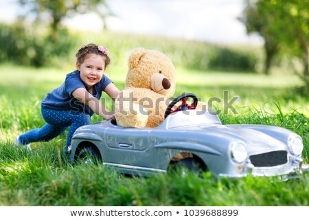 portrait of a little girl 4 years old with a plush toy Stock photo © RuslanOmega