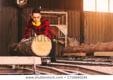 young tradesman holding a saw stock photo © photography33