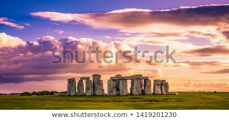 ориентир закат храма солнце оранжевый каменные Сток-фото © Kuzeytac