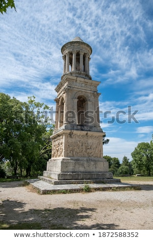 Roman pillars in Glanum. France. stock photo © frank11