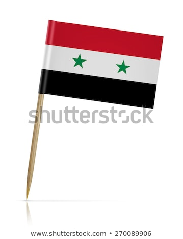 Miniatuur vlag Syrië geïsoleerd vergadering Stockfoto © bosphorus