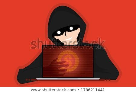 online · lopás · rablás · kéz · fegyver · képernyő - stock fotó © rtimages