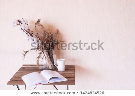 Katoen bloemen voorjaar tijd boom mode Stockfoto © kawing921