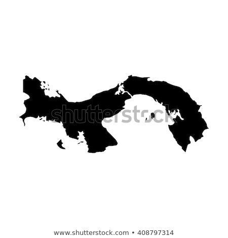 Harita Panama kahverengi kaya taş Stok fotoğraf © speedfighter