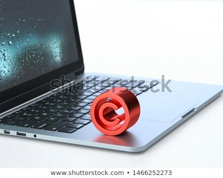 Szerzői jog billentyűzet számítógép billentyűzet közelkép üzlet technológia Stock fotó © stevanovicigor