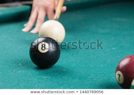 piscina · preto · bola · número · oito · prestados - foto stock © shutswis