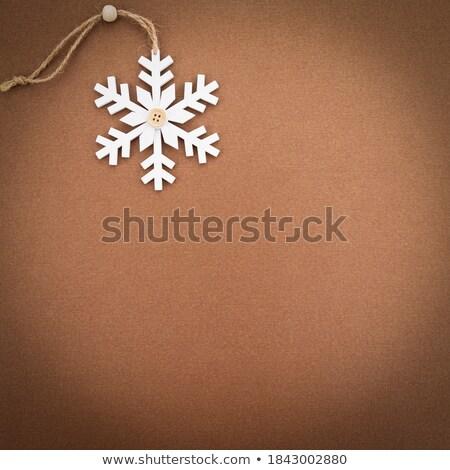 Natale · ornamenti · neve · testo · stanza - foto d'archivio © feverpitch