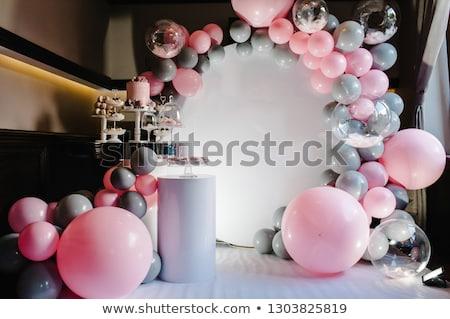 ballonnen · schone · witte · partij · verjaardag · Rood - stockfoto © m_pavlov