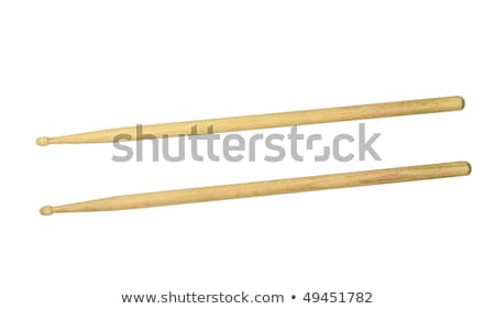 Two drumsticks isolated over white with clipping path Stock photo © shutswis