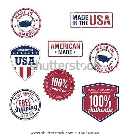 ヴィンテージ 米国 スタンプ コレクション スタイル 米国 ストックフォト © squarelogo