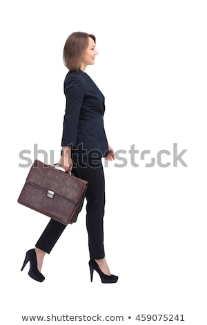 woman whit suitcase Stock photo © grafvision