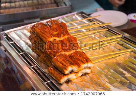 seafood skewers are ready to go on the barbecue stock photo © ozgur