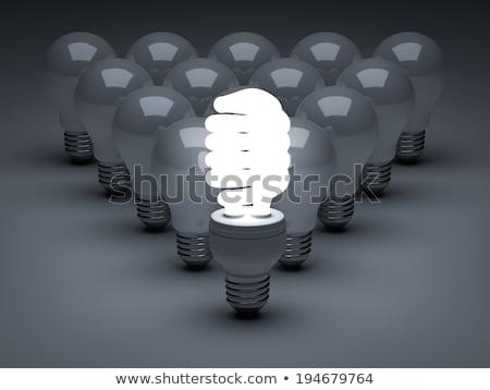 3d · mensen · energie · besparing · verlichting · lamp · witte - stockfoto © Quka