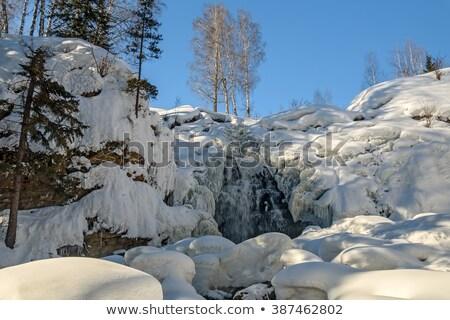 Pittoresco congelato cascata acqua neve montagna Foto d'archivio © haraldmuc