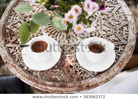 Kettő csészék görög kávé finom friss Stock fotó © ElinaManninen