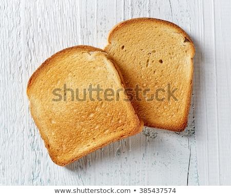 desayuno · blanco · tostado · pan · grupo - foto stock © ozaiachin