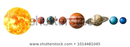 太陽系 · 惑星 · 冥王星 · 小さくする · ベルト · リング - ストックフォト © elenarts