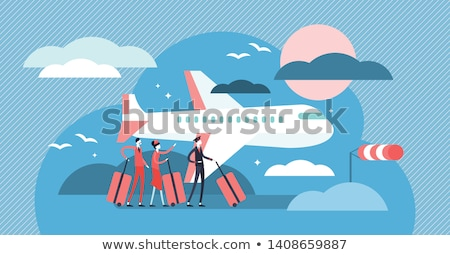 Stock photo: Airline Pilot in a Tiny Plane
