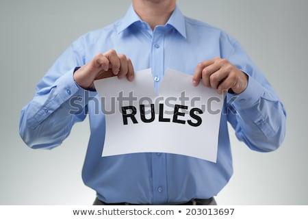 törik · szabályok · illusztráció · zöld · kréta · tábla - stock fotó © ansonstock