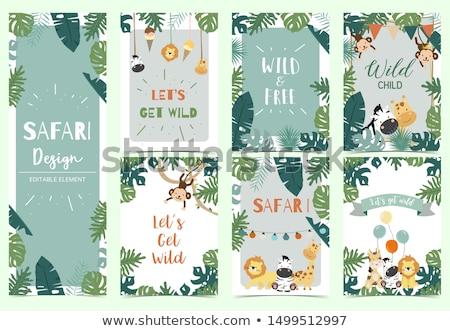 Animal frame banner Stock photo © mintymilk