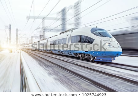 red high speed train Stock photo © ssuaphoto
