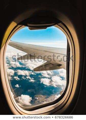 View through airplane porthole Stock photo © H2O