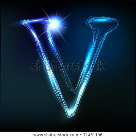 Glowing Font Shiny Letter V Stock Photo 169 Liubomyr Feshchyn Designer Things 305337
