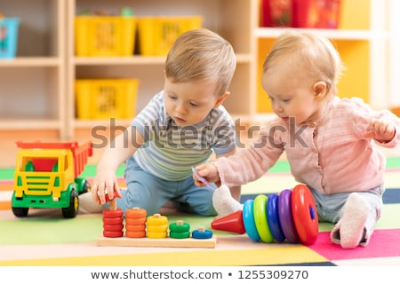 Child at nursery Stock photo © naumoid