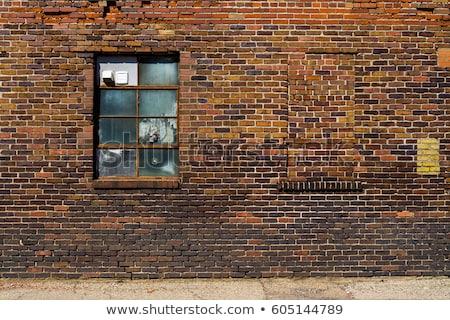 окна · красный · кирпичная · стена · город · стены · улице - Сток-фото © leonardi