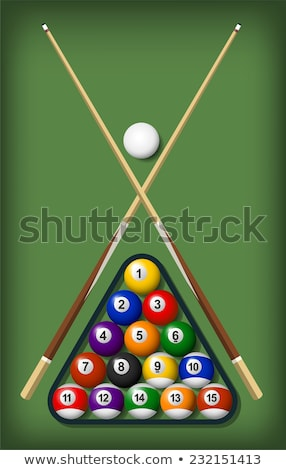 billiard table, balls, cue and glove Stock photo © Catuncia
