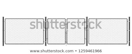 железной · ворот · цепь · старые · заблокированный · блоки - Сток-фото © SecretSilent