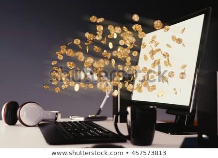 PC Computer in Gold Coin Stock photo © patrimonio