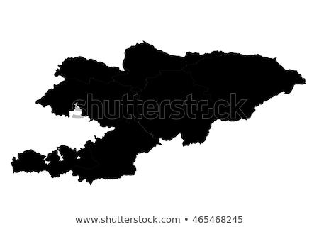 Grijs Kirgizië kaart administratief stad asian Stockfoto © Volina