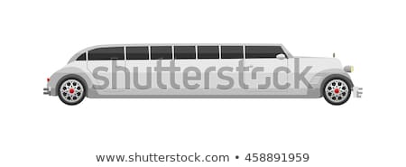 vector retro limousine stock photo © mechanik