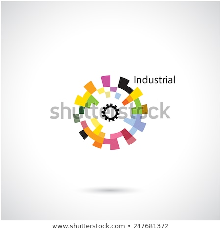 colorful abstract cogs icon stock photo © cidepix