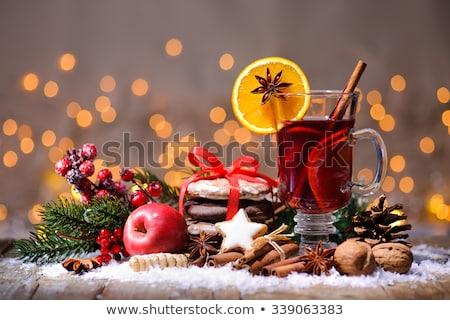 Stockfoto: Traditioneel · christmas · houten · gedroogd · sinaasappelen · krans