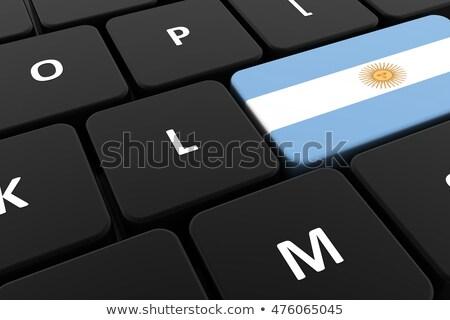 Argentina bandera botón negro teclado Foto stock © tashatuvango