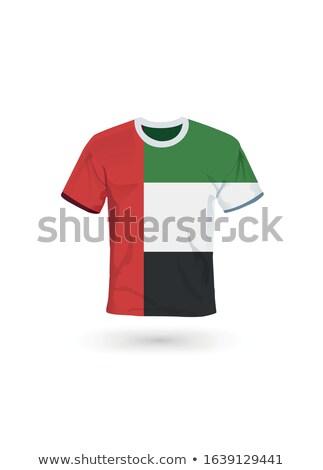 Birleşik Arap Emirlikleri voleybol takım yalıtılmış bayrak Stok fotoğraf © bosphorus