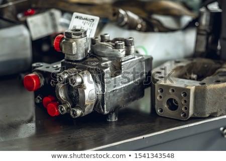 Hidrolik fotoğraf endüstriyel su gaz Stok fotoğraf © dengess