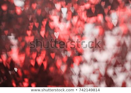 Eenzaam Rood hart zwarte harten achtergrond Stockfoto © Leonardi