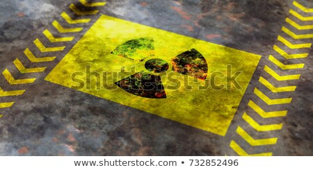 grunge nuclear radiation sign stock photo © burakowski