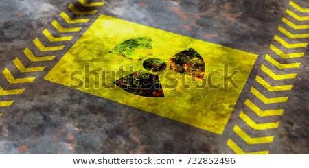 Grunge nucleare radiazione segno vettore abstract Foto d'archivio © burakowski