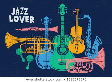 Szeretet dzsessz vektor absztrakt művészet felirat Stock fotó © burakowski
